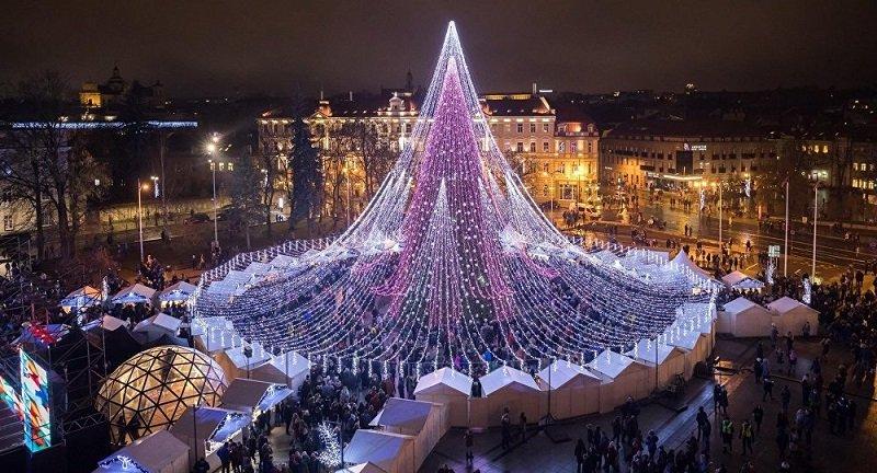 Только взгляни на эту елку Самое красивое рождественское дерево в Европе установлено в Вильнюсе
