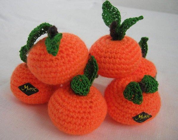 вязаные мандарины