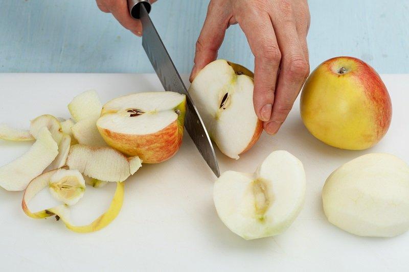 нарезка яблок красиво