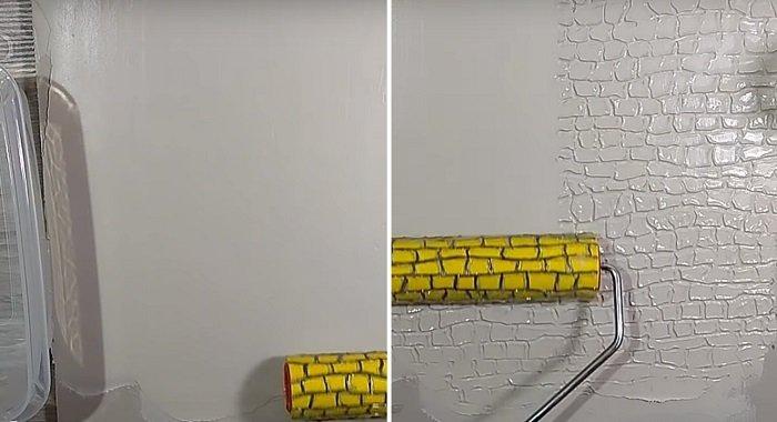 фактурный валик для покраски стен