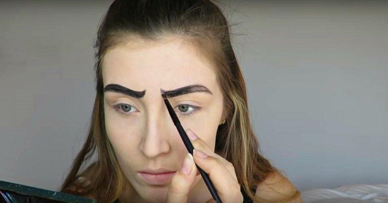 фантазийный макияж карандашом
