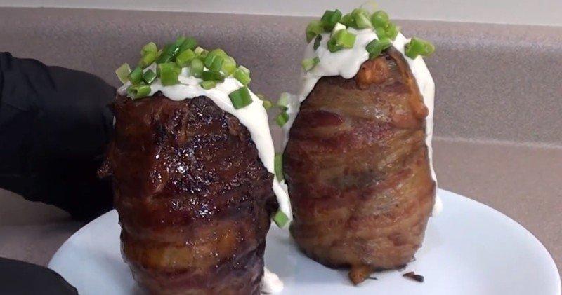 картофель на гриле