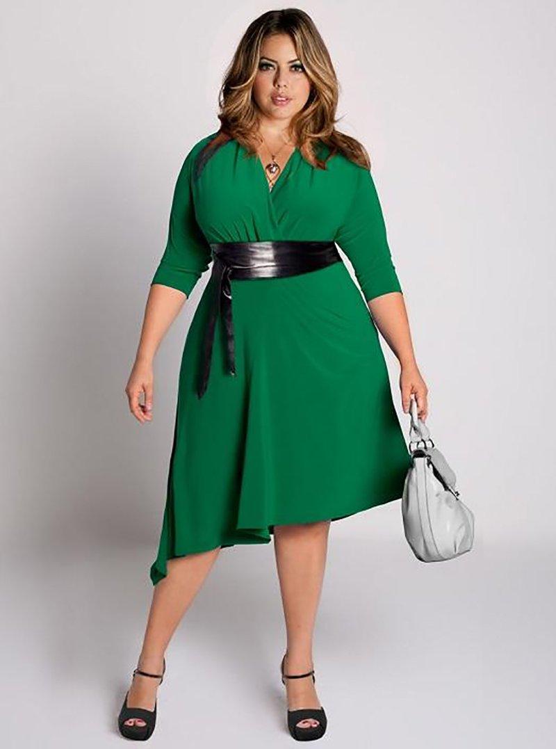 фасон платьев для полных женщин