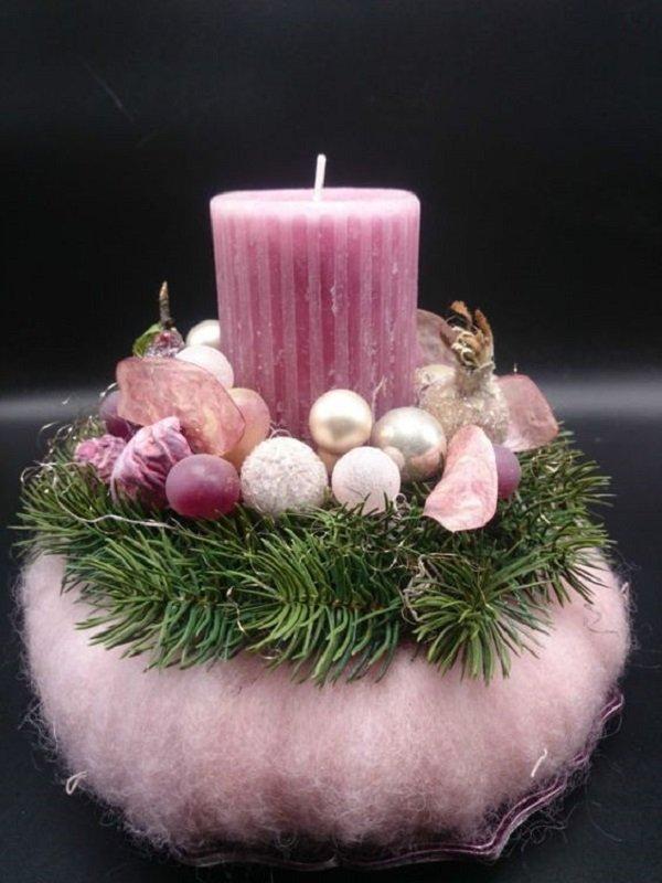 весенние композиции со свечами