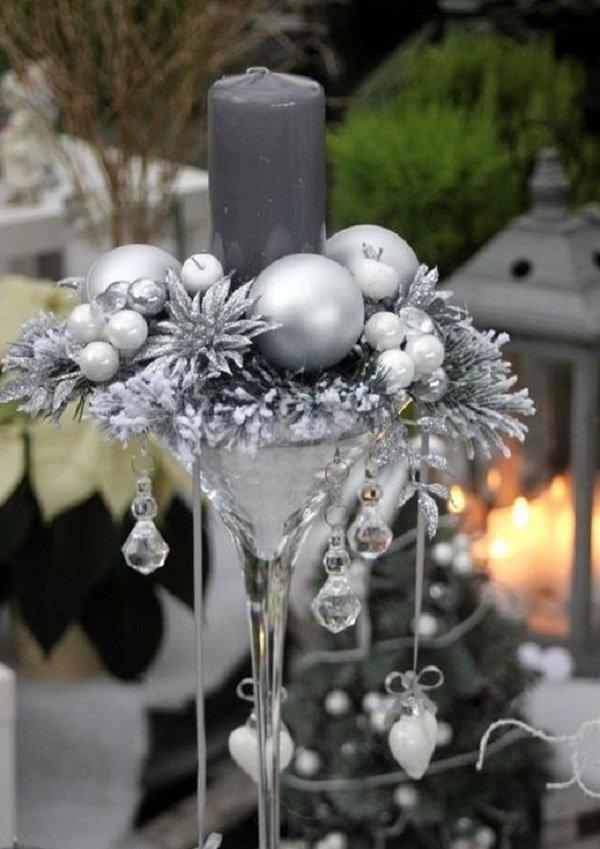 рождественские композиции со свечами