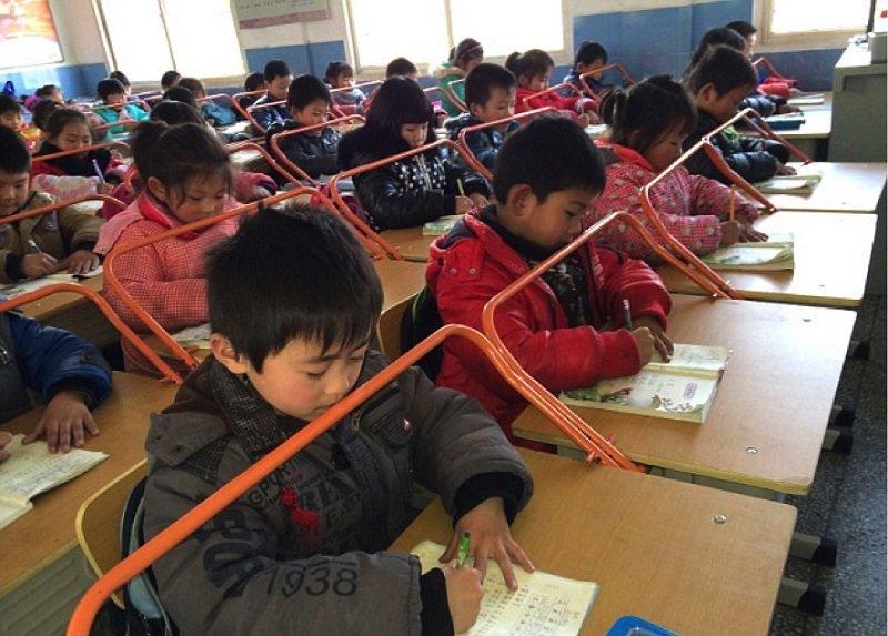 осанка китайских детей