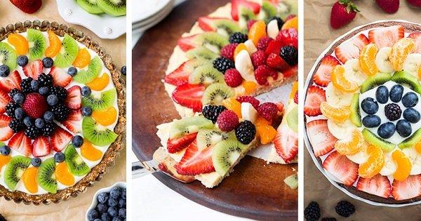 Чтобы «попробовать радугу», больше не нужен Skittles. 3 рецепта вкусной фруктовой пиццы.
