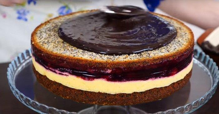 маковый торт в духовке
