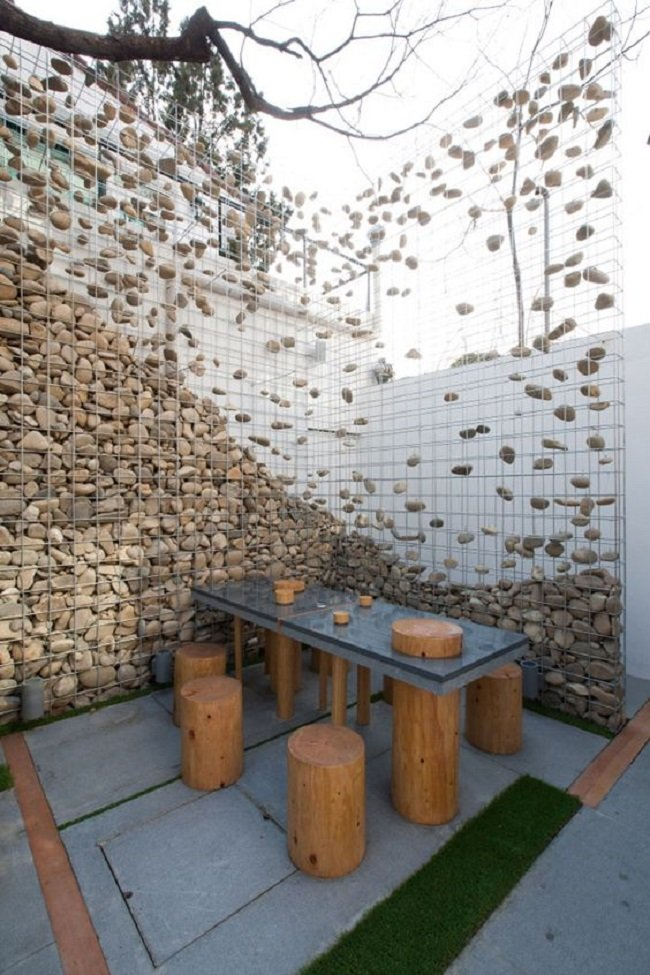 габионы в саду готовые идеи