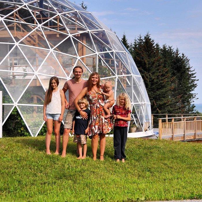 геодезический купольный дом