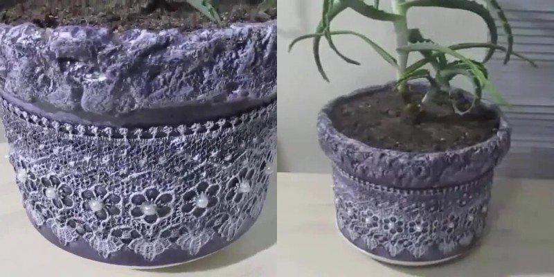 DIY sadrokartónové kvetináče