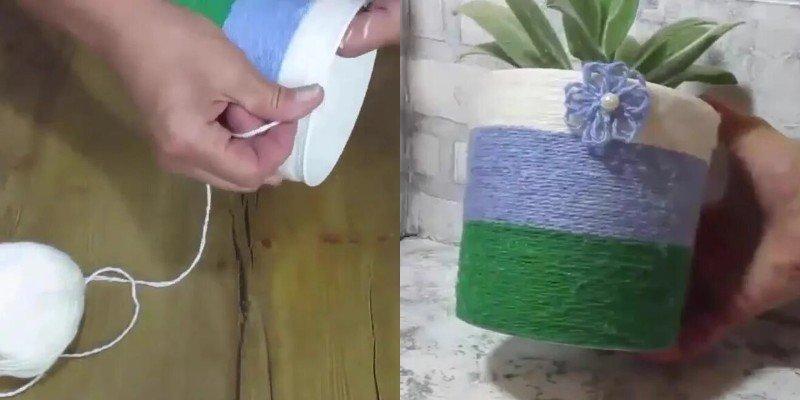 DIY kvetináče