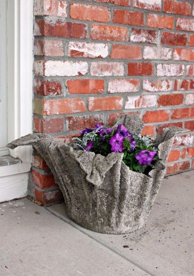 Как сделать кашпо для цветов своими руками из бетона