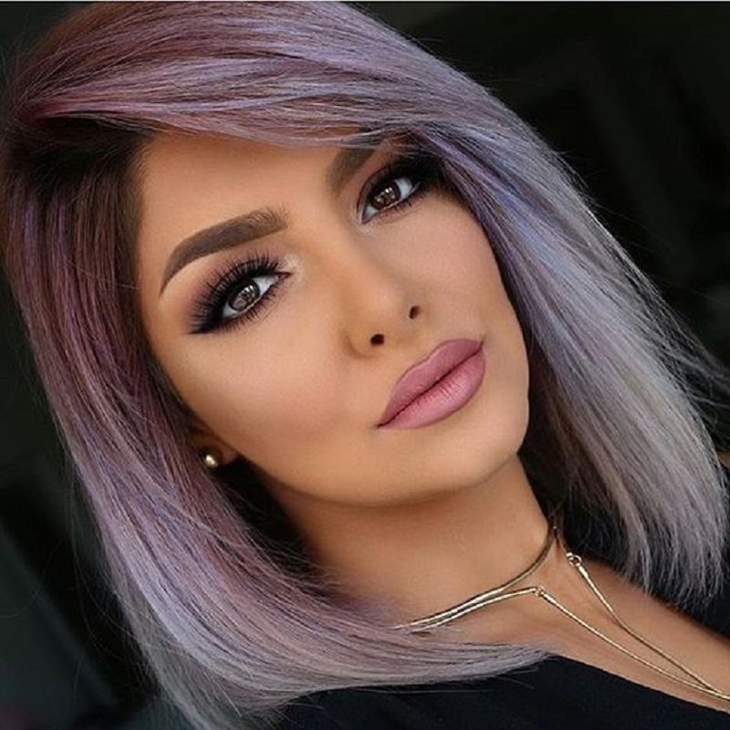 стрижка каре на цветных волосах