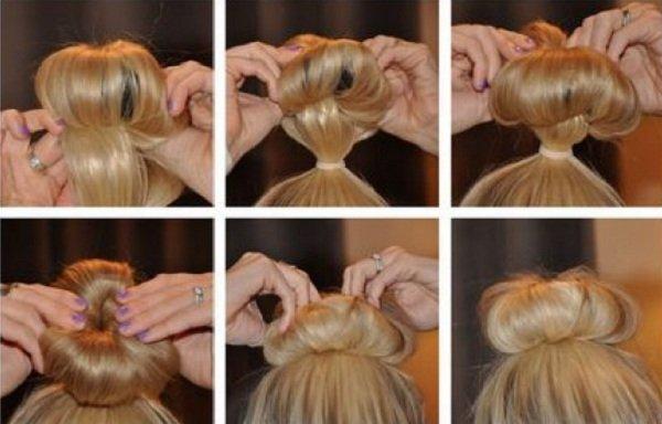 Как сделать бублик из носка для волос своими руками