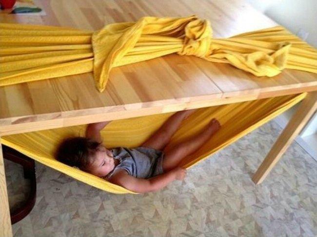гамак из одеяла