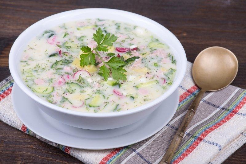 холодный суп без колбасы