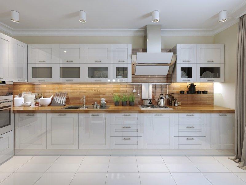 идеальный ремонт белой кухни