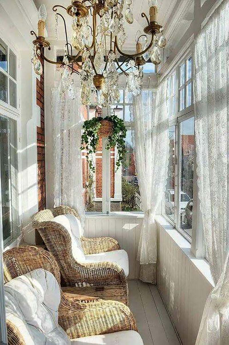 Štýlový dizajn nápady balkónov a lodžií