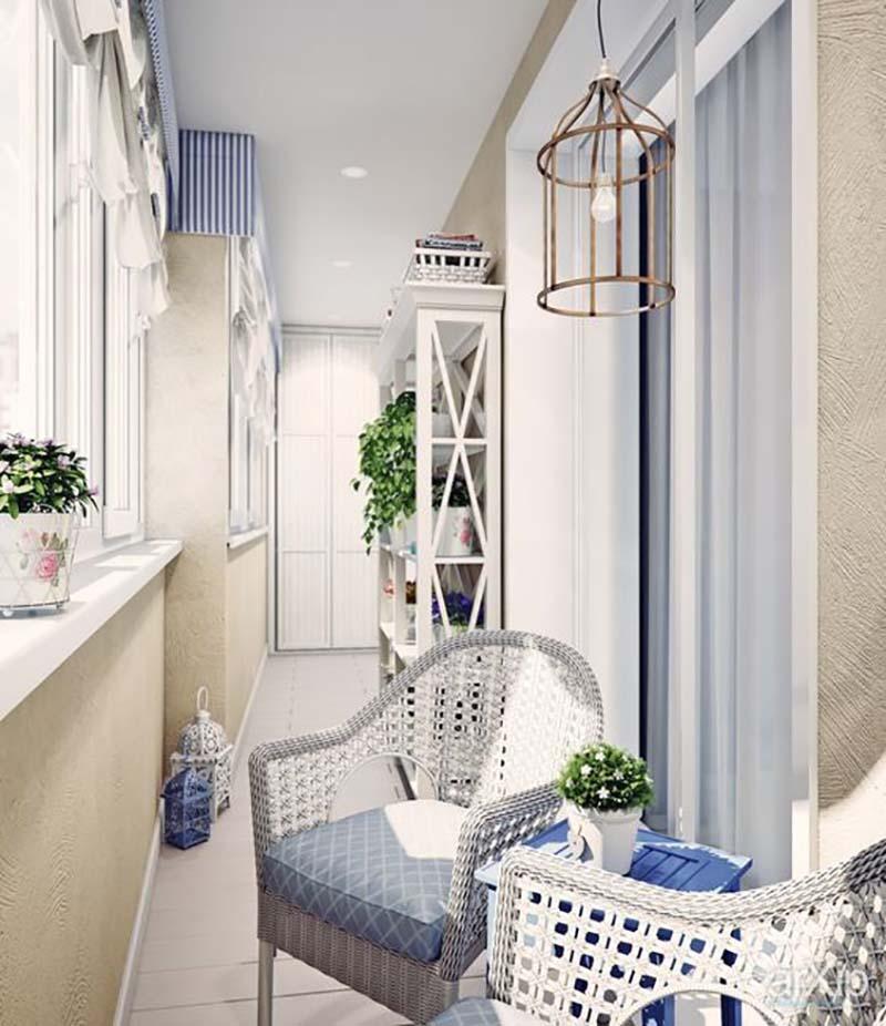 Nápady malý balkón dizajnu