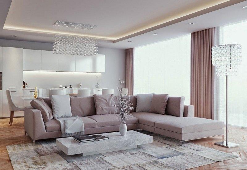 ремонт гостиной в современном стиле
