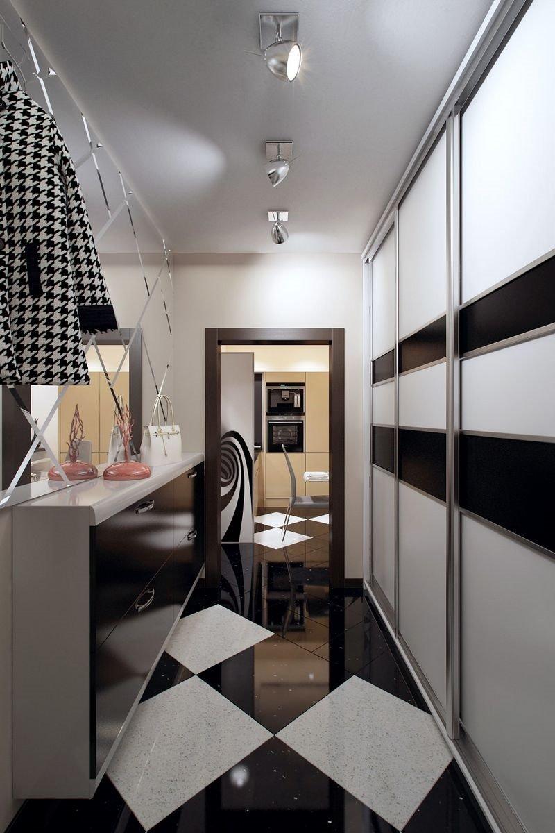 дизайн маленького коридора