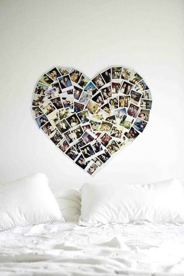 сердце на стене
