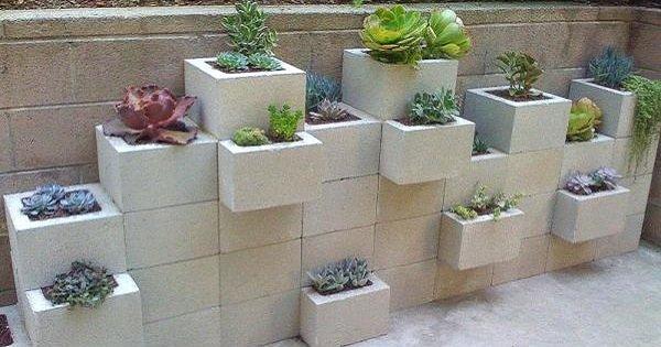 Бетонные блоки как элемент декора: 17 необычных идей для применения!