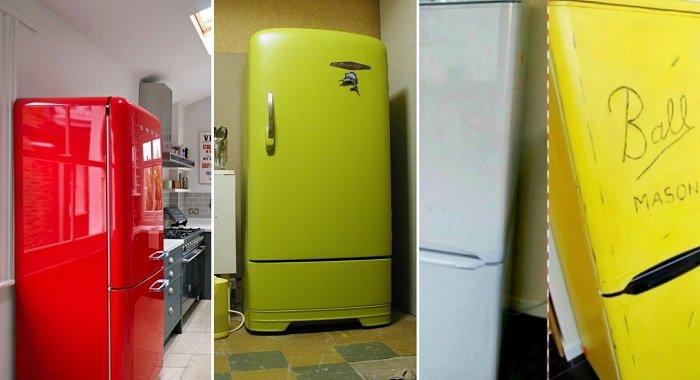 Как обновить холодильник. Наклейка на холодильник