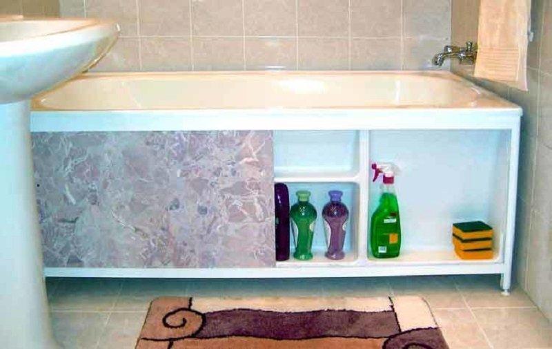 Экран на ванну из пластиковых панелей