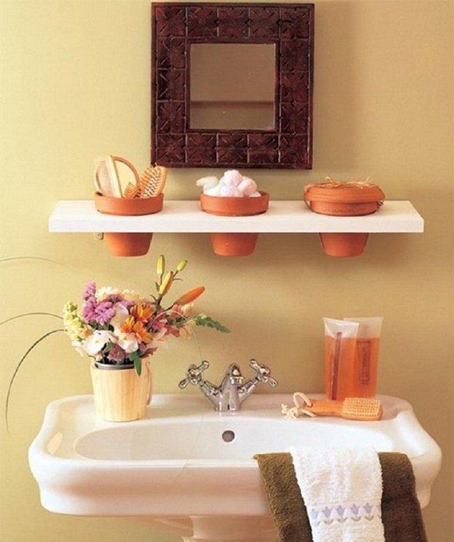 цветочные горшки в ванной