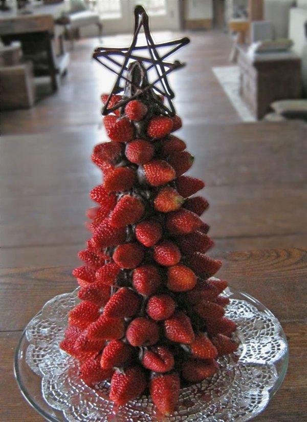 шоколадно-клубничная елка