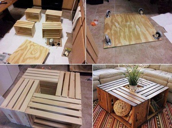 столик из ящиков