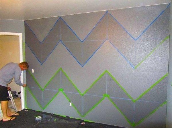геометрических рисунков на стенах