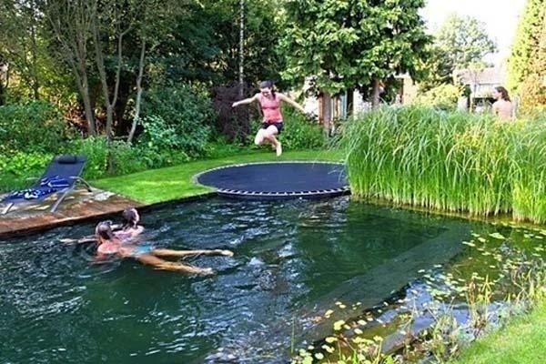 батут для прыжков в воду