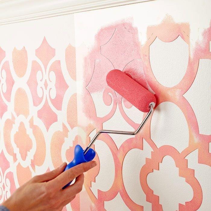 Трафареты для покраски стен своими руками