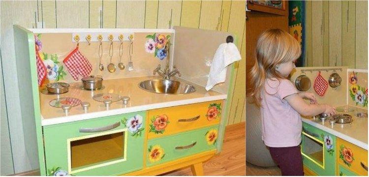 игрушечная кухня своими руками