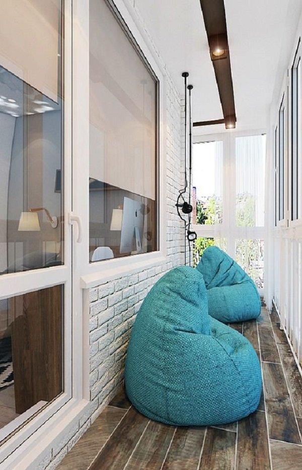 дизайн и интерьер балкона долой хлам