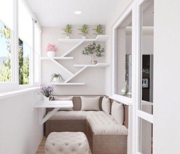 интерьер балкона в стиле прованс