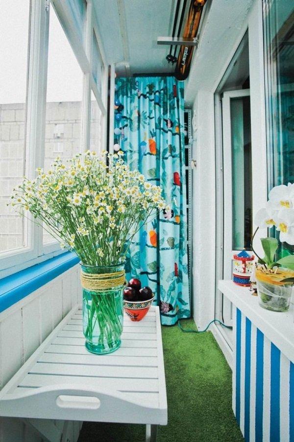 интерьер балкона вагонка