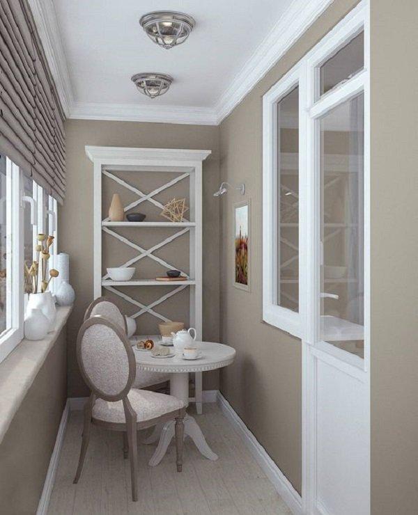 интерьер балкона 3 метра