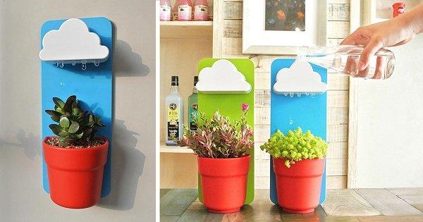Любители комнатных растений придут в восторг! Искусственное облако для поливки вазонов своими руками.