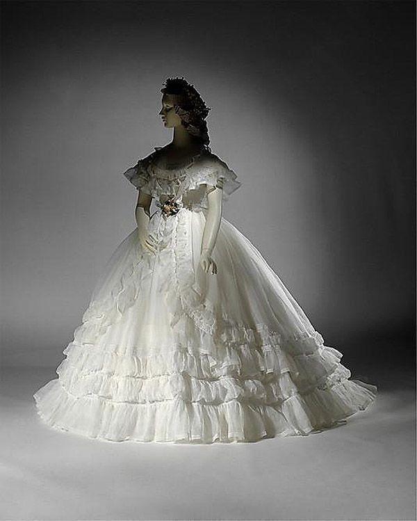 свадебное платье 1857 год