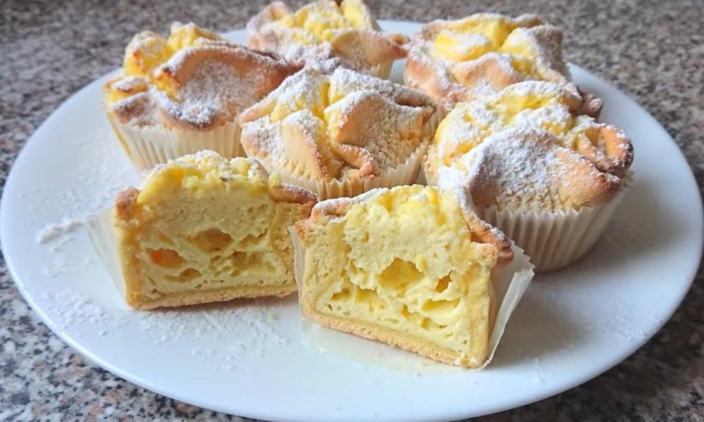 Итальянские пирожные «Соффиони» с творогом