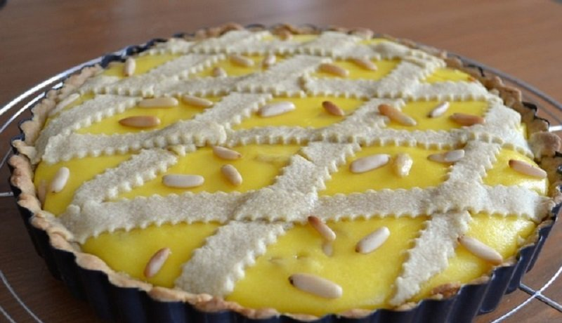 пирог с заварным лимонным кремом