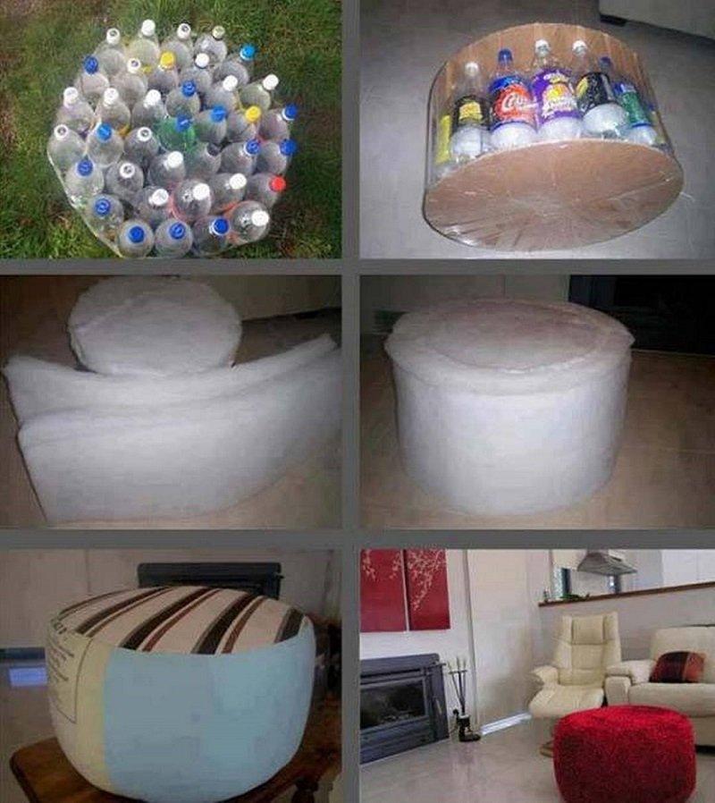 пластиковые бутылки на даче