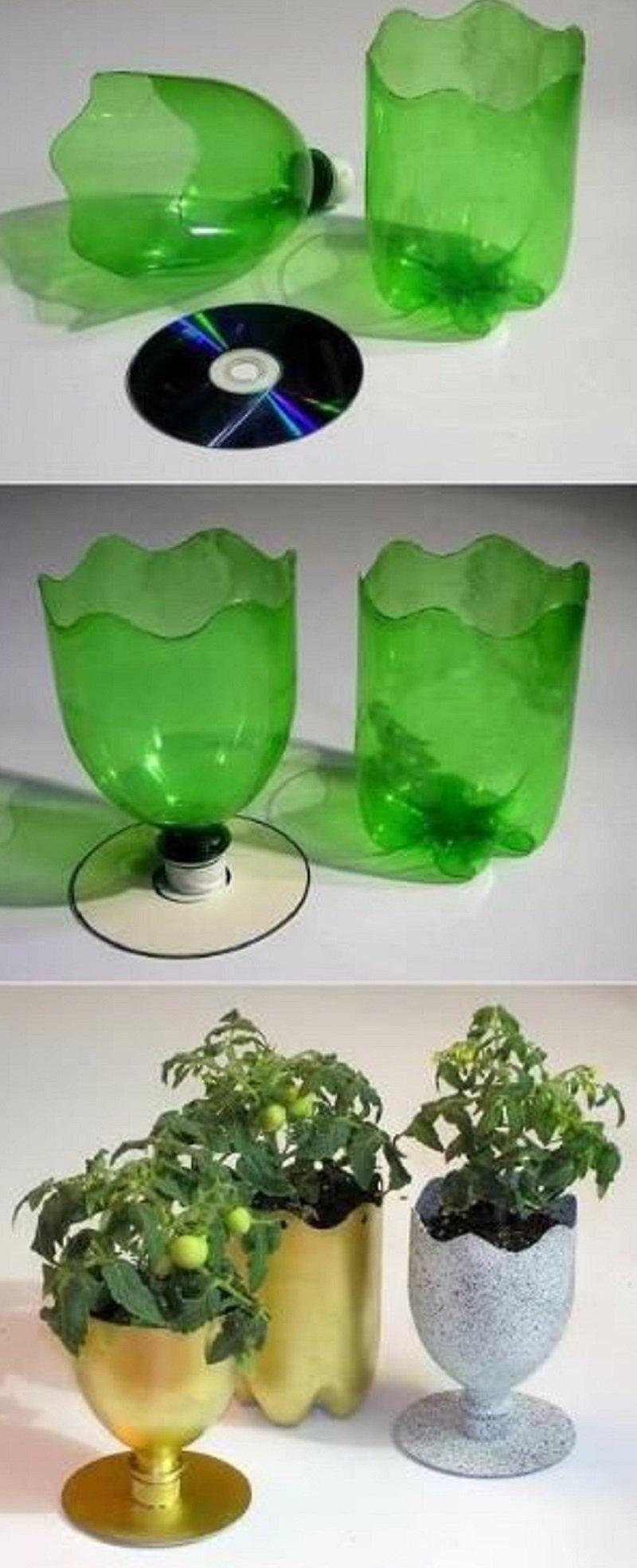 пластиковые бутылки для дачи