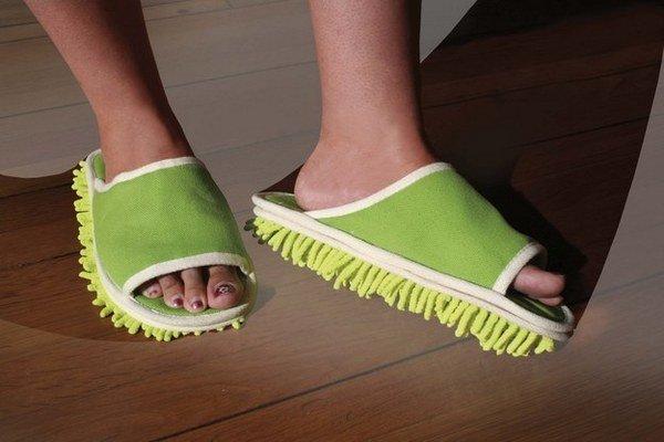обувь для натирания пола