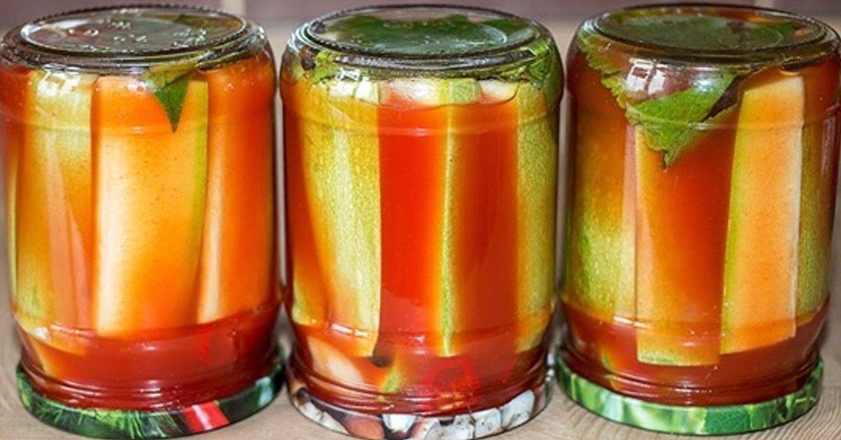 кабачки на зиму с томатной пастой