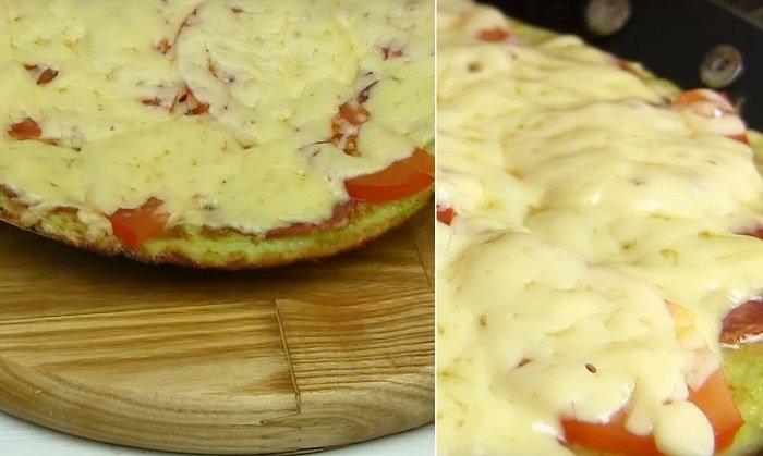 пицца из кабачков и фарша